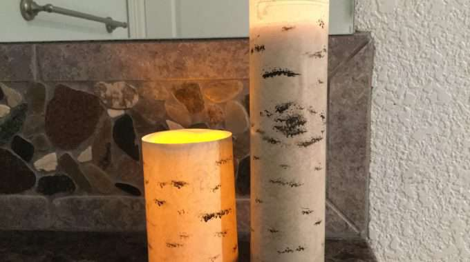 Faux Tree Candle Holders