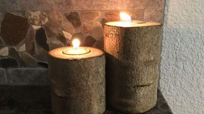 Real Tree Candle Holders