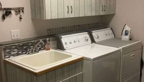 Inexpensive Laundry Room Makeover