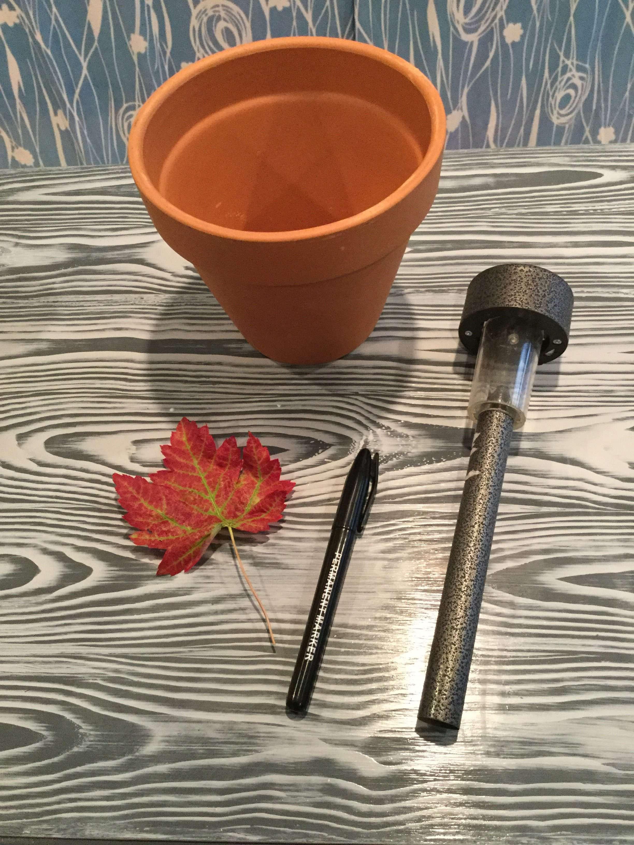 Flower Pot To Solar Pumpkin