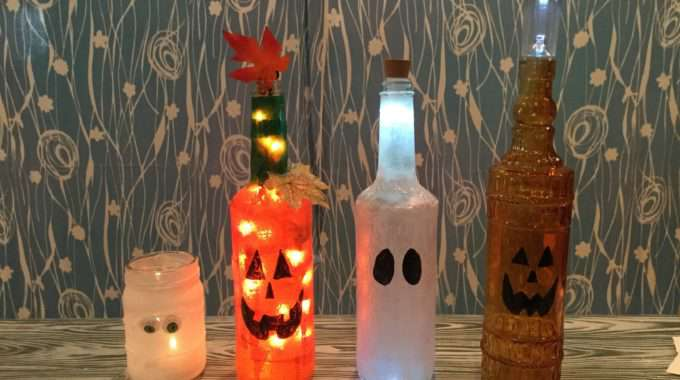 Repurpose Jars & Bottles for Halloween Fun!