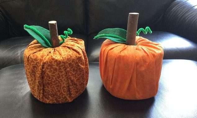 Easy Fabric Pumpkins!