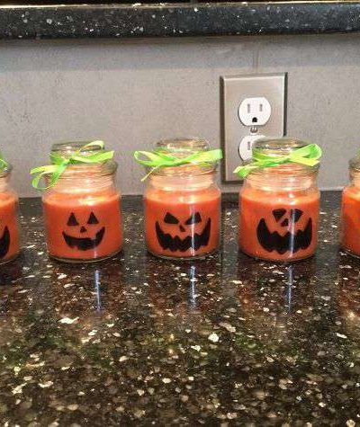 Easy pumpkin Candle craft