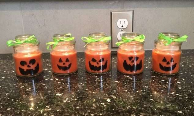 Easy Halloween Candle & Mug Craft