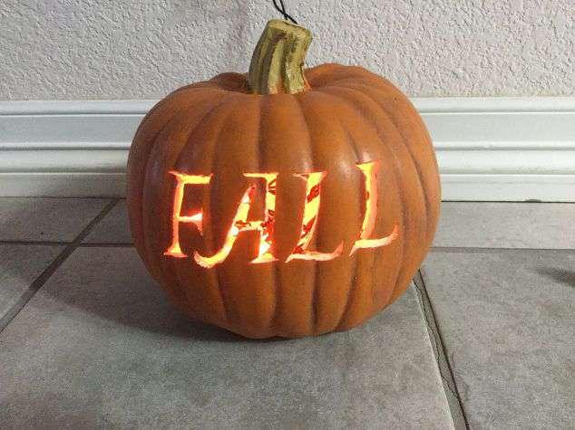 Carve Fake Pumpkins