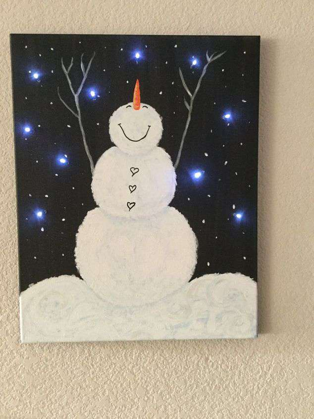 Light Up Canvas Diy Diy String Light Backlit Canvas Art