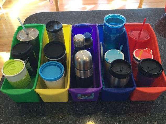 I gave each family member a bin.