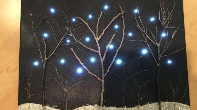 Winter Light Up Canvas Art