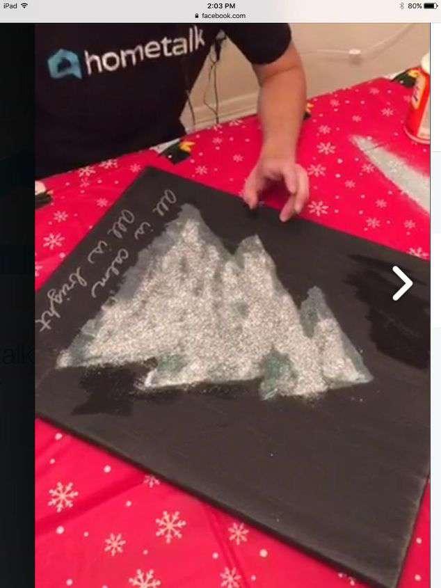 Christmas Light Up Canvas Art Hometalk Live Diy Chas
