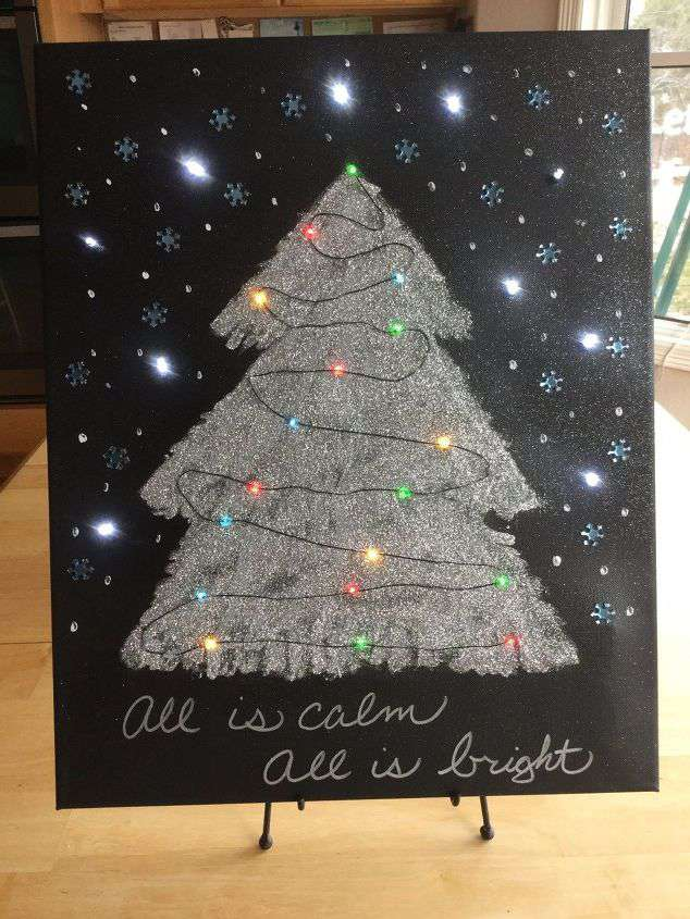 Christmas Light Up Canvas Art Hometalk Live Diy Chas
