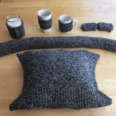 Buy 1 thrift store sweater or re-purpose an old sweater of your own to make 5 ideas that are easy and will warm your home during the cold months!