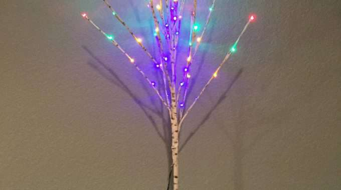 Upcycle Plain LED Tree to Birch/Aspen Tree