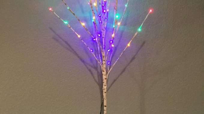 Upcycle Plain LED Tree to Birch/Aspen Tree