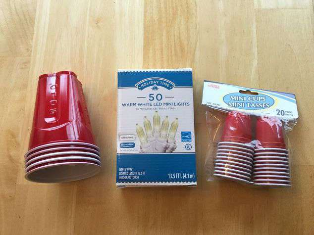 supplies for red solo cup party lights