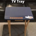 Do you want to make a DIY chalkboard? Why not change an old wooden TV tray into more than just a place for food.