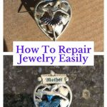 Do you want an easy way to repair jewelry? Even vintage jewelry needs a facelift once in and while. My daughter saw this vintage pin at a thrift shop. She knew I would be able to fix it. She decided to buy it and gave it to me for Christmas.