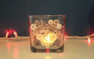 Heart Button Art Candle Holder – Subscriber Exclusive