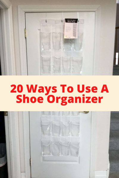 Would you like space saving organization? I was given the challenge by Hometalk to come up 6 ways to use a hanging shoe organizer. With in 5-10 minutes I had come up with 20! Here are all the different ways you can use a hanging shoe organizer to help out in your home.