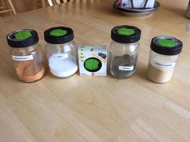 Upcycle your mason jars for a better way to store seasonings and spices