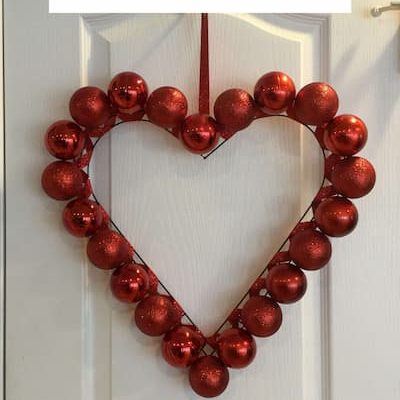 How do you make a Dollar Tree heart wreath? If you are interested in making a Valentine's Day wreath - I have 2 options for you. Both are super easy to make.