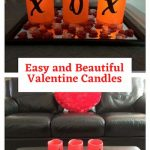How do you make Valentine's Day decor ideas? This easy LED candle display is inexpensive and easy to make. Just a few candles, a few stickers, a tray with a little table scatter and your set! Great for your home, gift, or craft night party.