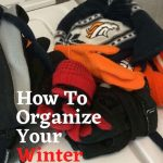 I needed a system to organize my winter gear. We have our coats hanging in the laundry room entry way but our hats, gloves, scarves ... they were a mess! Here is an easy and inexpensive way I created winter gear storage.