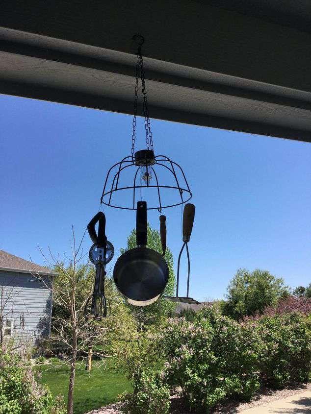 Grandma's Utensil Solar Windchime