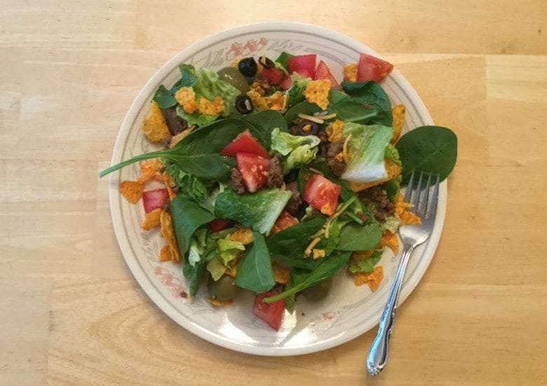 Do you want to know how to make Dorito taco salad? This recipe can be set up like a salad bar where everyone gets exactly what they want!