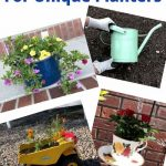 Do you want unique planters for your home? With a trip to the thrift store, you can create your own unique planters for your yard.