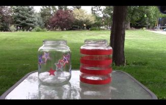 Easy Recycled Jar 4th of July Luminaries and More!