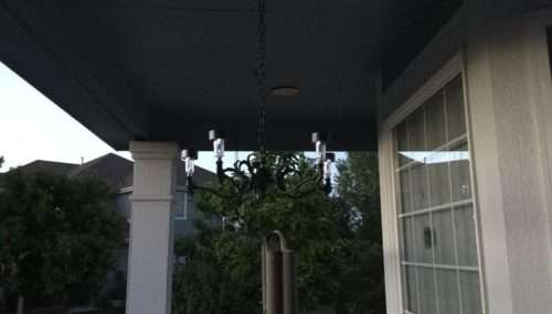Upcycle an Outdated Chandelier to a Solar Chandelier