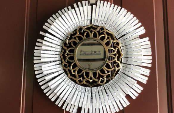 Daisy Clothespin Wreath