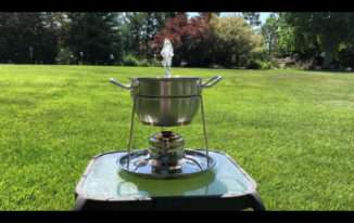 Fondue Pot to Table Top Solar Fountain & Fire Pit