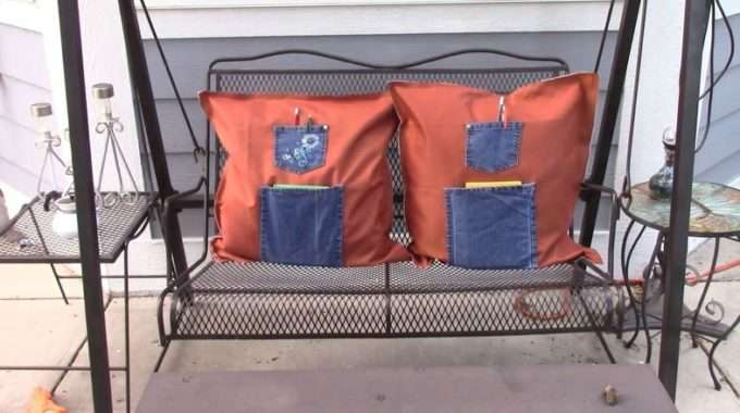 No Sew Outdoor Pillows With Journal/Pen Pockets