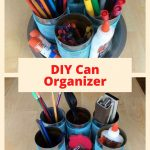 Do you love to reuse and recycle? Do you love to organize? I'm sharing how to DIY a can organizer for supplies. I'll share a few different ways to use this concept in your home.