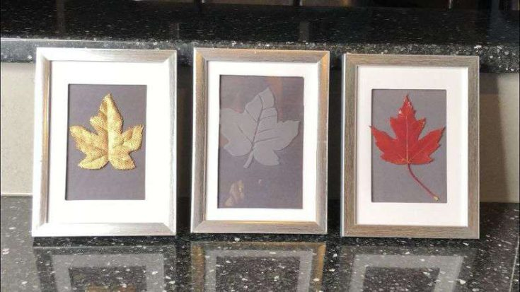 Fall Leaves Framed 3 Ways