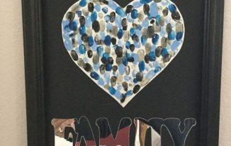 Family Heirloom Fingerprint Art
