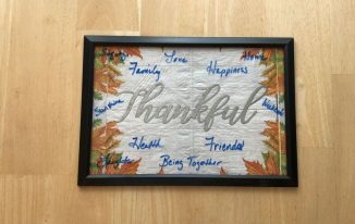 Thankful Dry Erase Board for the Holidays