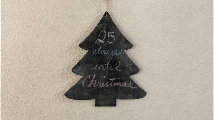 Chalkboard Tree and Message Board