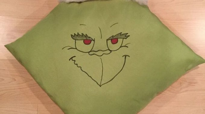 Easy Grinch Pillow