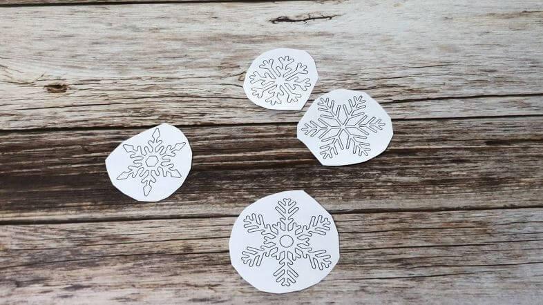 Hot Glue & Fabric Paint Snowflakes plus Bonus Window Wax