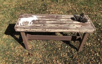 Upcycled Thrift Store Wooden Bench