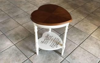 Upcycled Thrift Store Heart Table