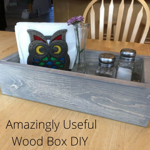 How do you make a homemade wooden box? Here's a wood box DIY that you can use in so many ways in your home.