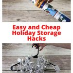 How do you organize seasonal decorations? How do you store everything? It's that time of year when we clean up all of our holiday decor, I have some easy and cheap holiday storage hacks for you!