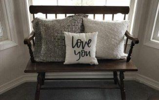 DIY No Sew Sweater Pillow