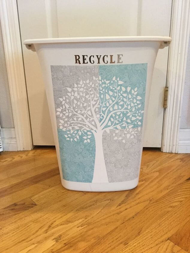 Easy Upcycled Trashcan and Recycle Container