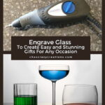 Did you know you can engrave glass? Using a Dremmel Engraver, you can create engraved glass gifts for any occasion.