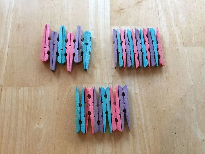 Food Color Dye Clothespin Coasters