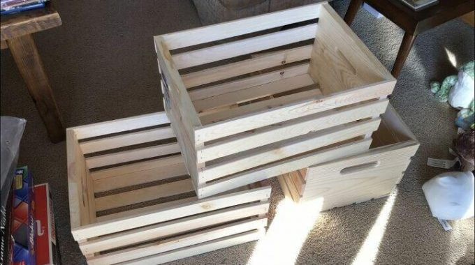 Wood Crate Storage Shelves